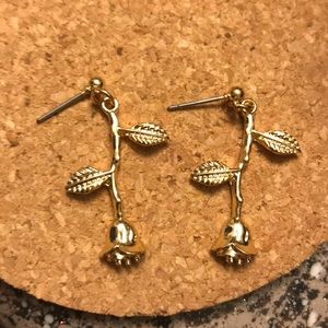 Urban outfitters rose gold earrings